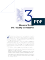Literature review - focusing research