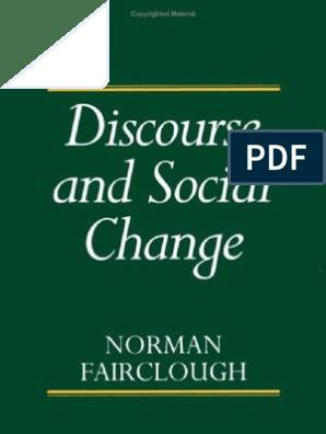Fairclough 1992 Discourse and Social Change | Discourse