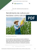 Rendimiento de cultivos por hectárea_ cómo calcularlo - Agroptima