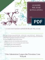 Analisis Wilayah Kota Langsa