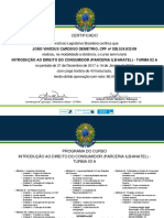 Certificado Código Do Consumidor