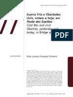 Guerra Fria e liberdades civis, ontem e hoje, em Ponte dos Espiões