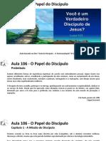 EAE - Aula 106 - Papel do Discípulo