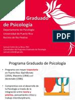 Presentación Programa Graduado Psicología UPR (Octubre 2020)