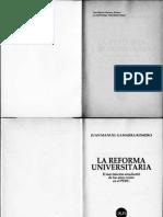 Gamarra Romero, Juan Manuel- La Reforma Universitaria, El Movimiento Estudiantil en Los Anhos 20 en El Peru