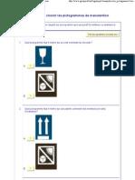 Distinguer et choisir les pictogrammes de manutention