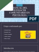 Diaposotiva Manual Del Quehacer Comunitario en Psicología