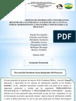 Diapositivas-Supervisión Del Sistema de Información Contable en El Registro de Las Entradas y Salidas de Los CLAP en La Unidad Administrativa y Financiera Comunitaria Las Delicias i El Tigre Estado Anzoátegui