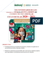 PRODUCTOS CONTESTADOS 5a. SESION