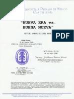 Nihil Obstat e Imprimatur, Nueva Era vs Buena Nueva