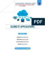 CLOUD ET APPLICATION