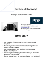 Reading Textbook Effectively
