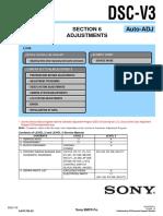 Sony DSC-V3 Adjustment Manual (P.N. - 987676252)