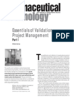 Essentials of Validation Project Management - Part l  - Reprint
