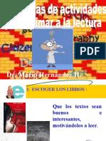 Actividades para animación lectora