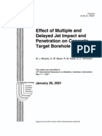 effect of multiple and delayed jet impact and peneration on concrete target borehole diameter