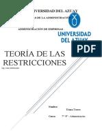 Teoría de Las Restricciones