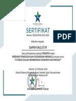 Perpustakaan Nasional Republik Indonesia Nomor: 3530/4/PPM.05/X.2020