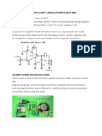 PROJECT 4 (MEMBUAT  POWER AMPLI 5 WATT)
