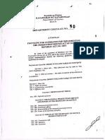 R.A. 10071 NPS Act FOI DC50 S2010