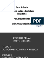 Aula de Direito Penal em PowerPoint