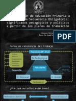 La transición de Educación Primaria a la Educación Secundaria