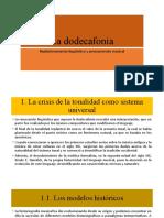La dodecafonía