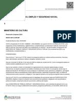MINISTERIO DE TRABAJO, EMPLEO Y SEGURIDAD SOCIAL Y MINISTERIO DE CULTURA