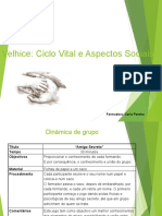 Velhice - Ciclo Vital - Power Point