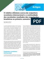 2005.08 - O relativo otimismo acerca da conjuntura econômica internacional e a continuidade dos excelentes resultados das exportações brasileiras no primeiro semestre de 2005