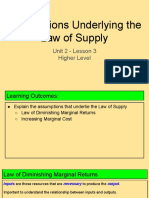 unit 2 - lesson 3 - assumptions underlying the law of supply