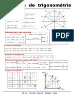 Formulaires de Trigonometrie