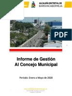 2. Informe de Gestion Enero a Mayo de 2020