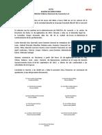 ACTA DE SESION DE DIRECTORIO 2