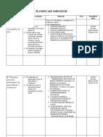 Plan IX Dirigintie
