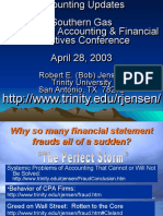 Issues o Accounting Fraud