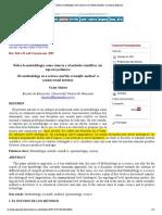Sobre La Metodología Como Ciencia y El Método Científico- Un Espacio Polémico
