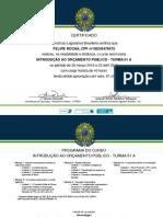 Certificado Orcamento Publico - Senado Federal
