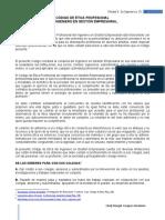 ENSAYO DEL CODIGO DE ETICA DEL INGENIERO EN GESTION EMPRESARIAL