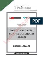 Decreto Supremo 192 2020 PCM Politica Nacional Contra Las Drogas 2030 LP