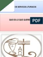 COMISION DE SERVICIOS LITURGICOS. LITURGIA 2015