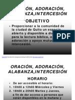 ORACIÓN, ADORACIÓN, ALABANZA,INTERCESIÓN