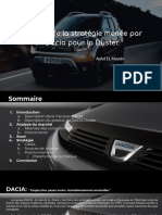 Modèle de marketing Dacia