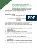 LEY DE LOS DERECHOS DE LAS PERSONAS ADULTAS MAYORES EN EL DISTRITO FEDERAL
