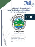 PTAR en el municipio de Marcos Castellanos, Michoacan