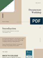 cream basic photography education presentation