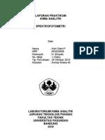 Laporan Kiman - Spektrofotometri
