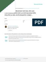 Rojas- La responsabilidad socail de las universidades en la socializacion politica (1)