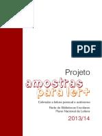 Projeto amostras para ler+ - Estimular a leitura pessoal e autónoma