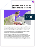Complete Guide on How to Set Up Facebook Store and Sell Products